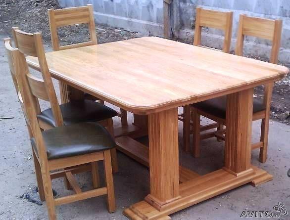 Большой стол своими руками с дерева 138